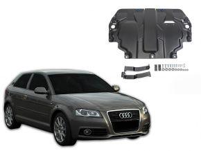Acél motor- és sebváltóvédő-burkolat Audi A3 8P minden motorhoz illeszkedik 2003-2012