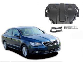 Acél motor- és sebváltóvédő-burkolat Skoda  Superb 1,4; 1,8; 2,0; 3,6 2008-2014