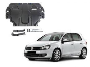 Acél motor- és sebváltóvédő-burkolat Volkswagen  Golf VI minden motorhoz illeszkedik 2009-2013