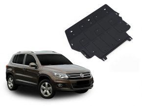 Acél motor- és sebváltóvédő-burkolat Volkswagen Tiguan 2,0TSI; 2,0TDI 2008-2011; 2011-2016