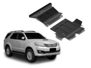 Acél motor- és hűtőburkolat Toyota Fortuner 2,5TD; 3,0TD; 2,7  2007-2015