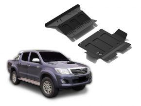Acél motor- és hűtőburkolat Toyota Hilux 2,5TD; 3,0TD; 2,7  2007-2015