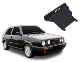 Acél motor- és sebváltóvédő-burkolat Volkswagen Golf II MT minden motorhoz illeszkedik 1986-1992