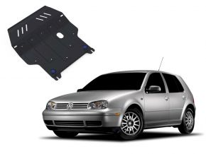 Acél motor- és sebváltóvédő-burkolat Volkswagen Golf IV minden motorhoz illeszkedik 1998-2005