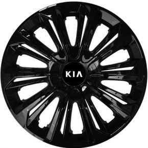 """Dísztárcsa KIA 16"""", STRONG fekete lakkozott 4 db"""