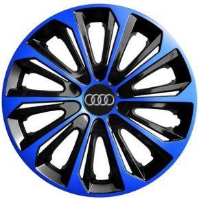 """Dísztárcsa AUDI 15"""", STRONG DUOCOLOR kék-fekete 4 db"""