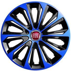 """Dísztárcsa FIAT 15"""", STRONG DUOCOLOR kék-fekete 4 db"""