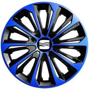 """Dísztárcsa SEAT 16"""", STRONG DUOCOLOR kék-fekete 4 db"""