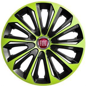 """Dísztárcsa FIAT 15"""", STRONG DUOCOLOR zöld-fekete 4 db"""