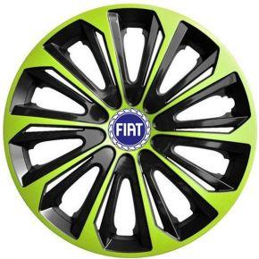 """Dísztárcsa FIAT BLUE 16"""", STRONG DUOCOLOR zöld-fekete 4 db"""