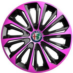 """Dísztárcsa ALFA ROMEO 15"""", STRONG DUOCOLOR pink és fekete 4 db"""