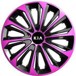 """Dísztárcsa KIA 15"""", STRONG DUOCOLOR pink és fekete 4 db"""