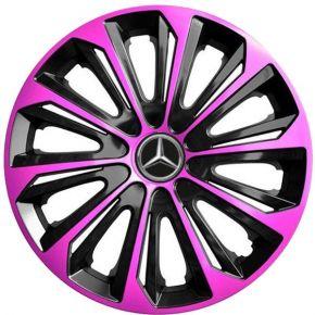 """Dísztárcsa MERCEDES 16"""", STRONG DUOCOLOR pink és fekete 4 db"""