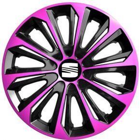 """Dísztárcsa SEAT 16"""", STRONG DUOCOLOR pink és fekete 4 db"""