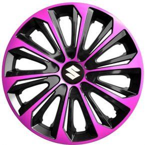 """Dísztárcsa SUZUKI 15"""", STRONG DUOCOLOR pink és fekete 4 db"""