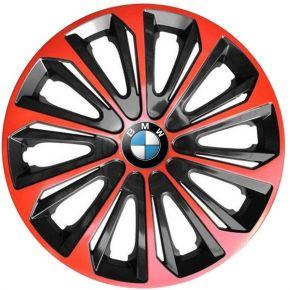 """Dísztárcsa BMW 15"""", STRONG DUOCOLOR piros-fekete 4 db"""