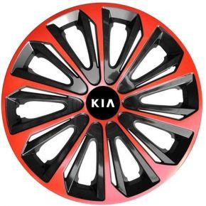 """Dísztárcsa KIA 16"""", STRONG DUOCOLOR piros-fekete 4 db"""