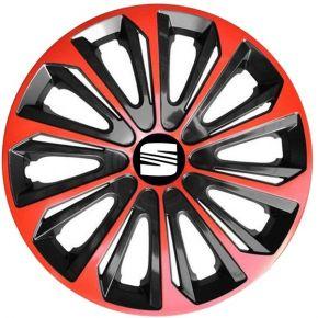 """Dísztárcsa SEAT 16"""", STRONG DUOCOLOR piros-fekete 4 db"""