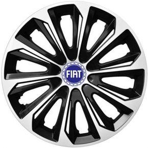 """Dísztárcsa FIAT BLUE 16"""", STRONG DUOCOLOR fekete-fehér 4 db"""