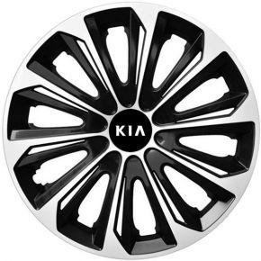 """Dísztárcsa KIA 16"""", STRONG DUOCOLOR fekete-fehér 4 db"""
