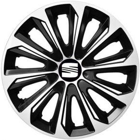 """Dísztárcsa SEAT 16"""", STRONG DUOCOLOR fekete-fehér 4 db"""