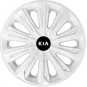 """Dísztárcsa KIA 16"""", STRONG fehér lakkozott 4 db"""