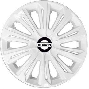 """Dísztárcsa NISSAN 15"""", STRONG fehér lakkozott 4 db"""