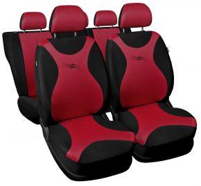 Univerzális üléshuzat TURBO piros
